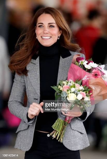 Catherine Duchess of Cambridge visits Coach Core Essex at Basildon Sporting Village on October 30 2018 in London England