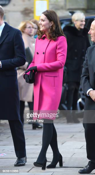 Catherine, Duchess of Cambridge visits Coventry Cathedral on January 16, 2018 in Coventry, England.