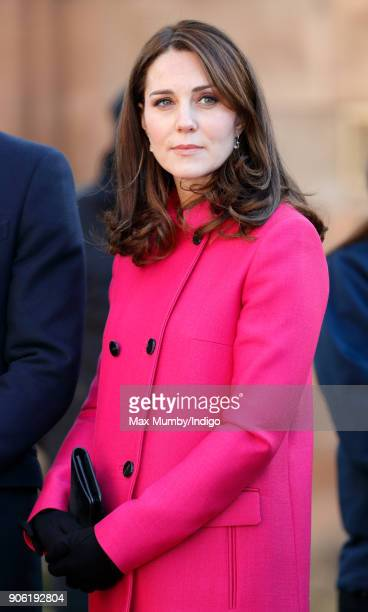 Catherine Duchess of Cambridge visits Coventry Cathedral on January 16 2018 in Coventry England