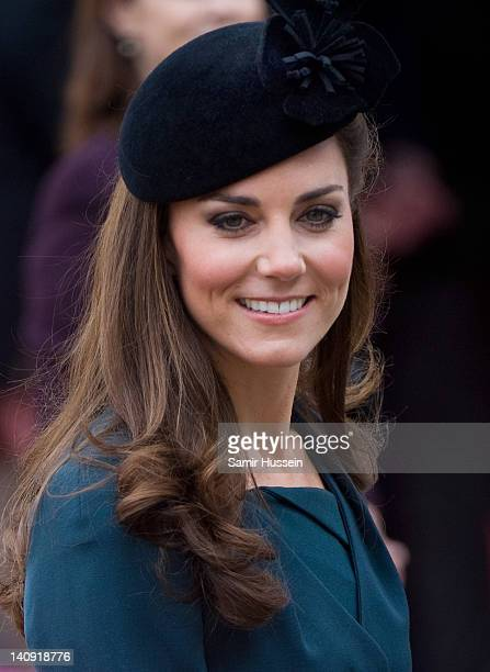 Catherine, Duchess of Cambridge visits De Montford University during a visit to Leicester on March 8, 2012 in Leicester, England.