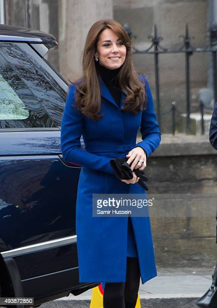 Catherine Duchess of Cambridge visits Dundee Rep Theatre on October 23 2015 in Dundee Scotland