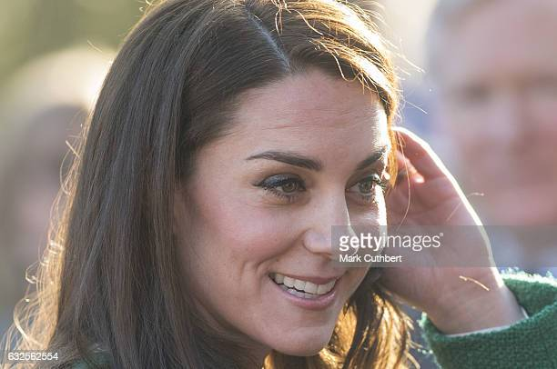 Catherine Duchess of Cambridge visits EACH to get an update on The Nook Appeal on January 24 2017 in Quidenham Norfolk HRH is Royal Patron of EACH...