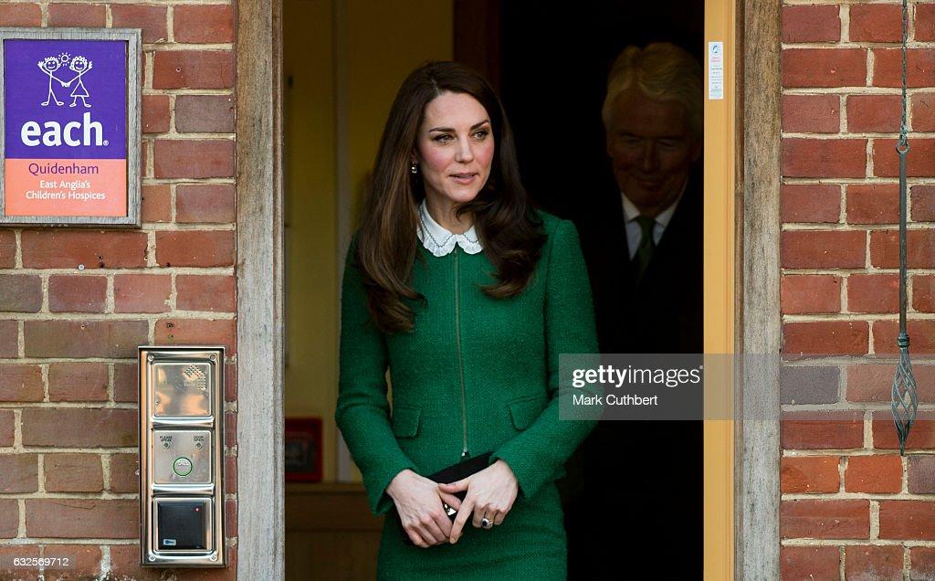 The Duchess of Cambridge Visits East Anglia's Children's Hospice At Quidenham : Nachrichtenfoto