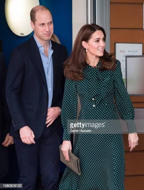 Catherine Duchess of Cambridge visits Evelina London Children's Hospital on December 11 2018 in London England