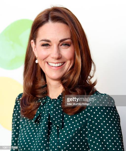 Catherine Duchess of Cambridge visits Evelina London Children's Hospital on December 11 2018 in London England