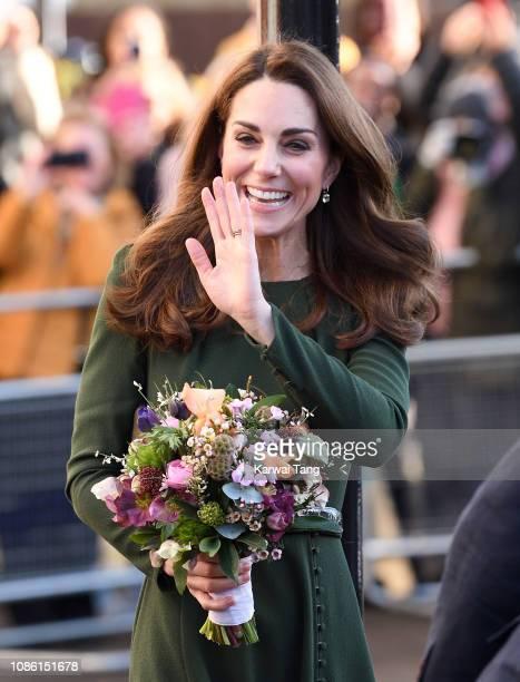 Catherine Duchess of Cambridge visits Family Action on January 22 2019 in Lewisham England