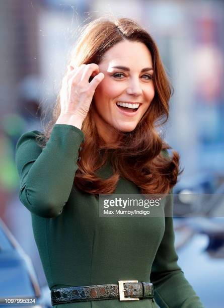 Catherine, Duchess of Cambridge visits Family Action to launch a new national support line on January 22, 2019 in Lewisham, England. Family Action,...