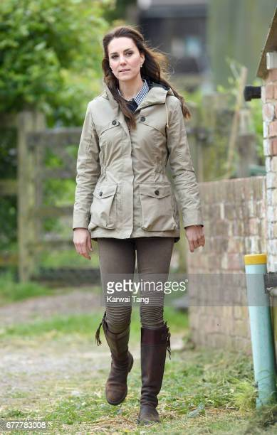 Catherine Duchess of Cambridge visits Farms for City Children on May 3 2017 in Arlingham Gloucestershire Farms for City Children is a charity which...