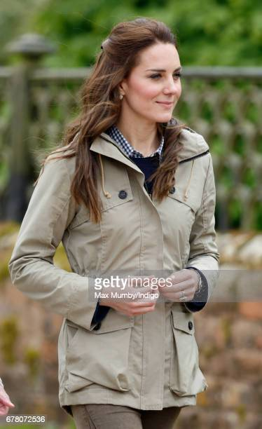 Catherine, Duchess of Cambridge visits Farms for City Children on May 3, 2017 in Arlingham, England. Farms for City Children is a charity which...