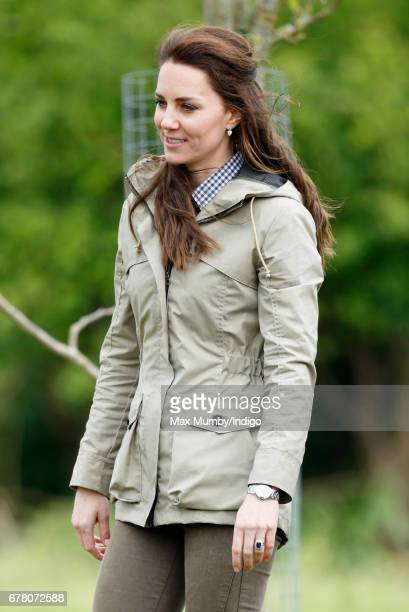 Catherine Duchess of Cambridge visits Farms for City Children on May 3 2017 in Arlingham England Farms for City Children is a charity which offers...
