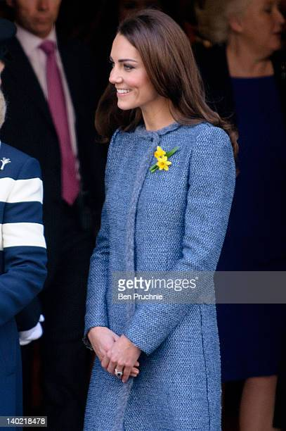 Catherine, Duchess Of Cambridge visits Fortnum & Mason store in London, England. The store's restaurant has recently been renamed The Diamond Jubilee...