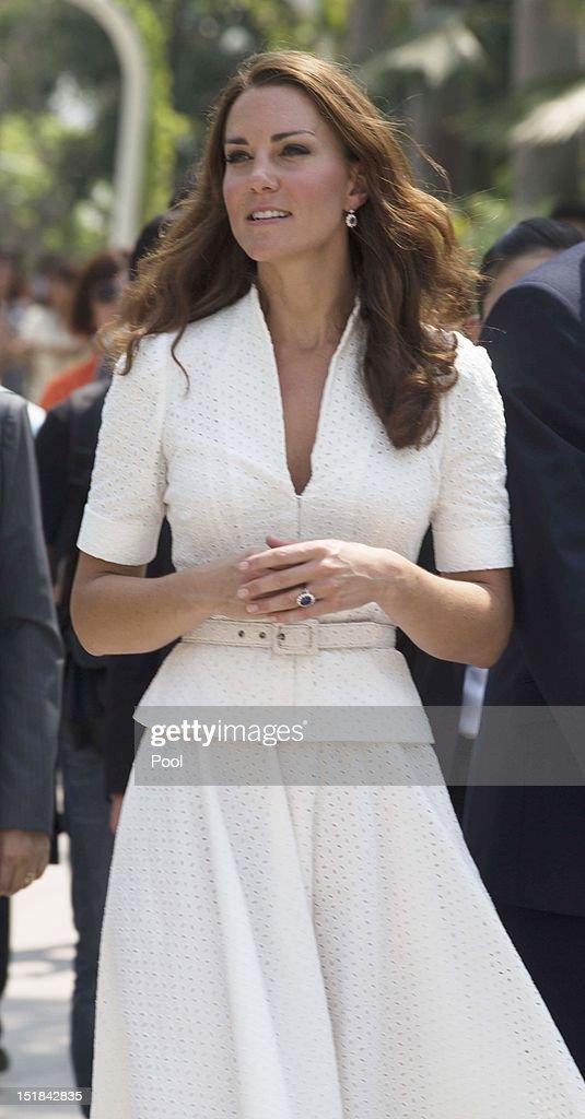 The Duke And Duchess Of Cambridge Diamond Jubilee Tour - Day 2 : News Photo