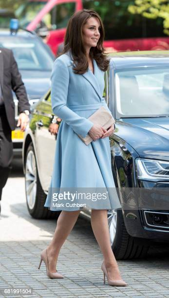 Catherine Duchess of Cambridge visits Grand Duke Jean Museum of Modern Art during a one day visit to Luxembourg on May 11 2017 in Luxembourg...