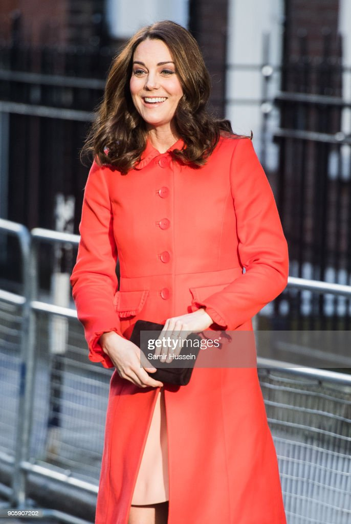 Catherine Duchess of Cambridge visits Great Ormond Street Hospital on January 17, 2018 in London, England.