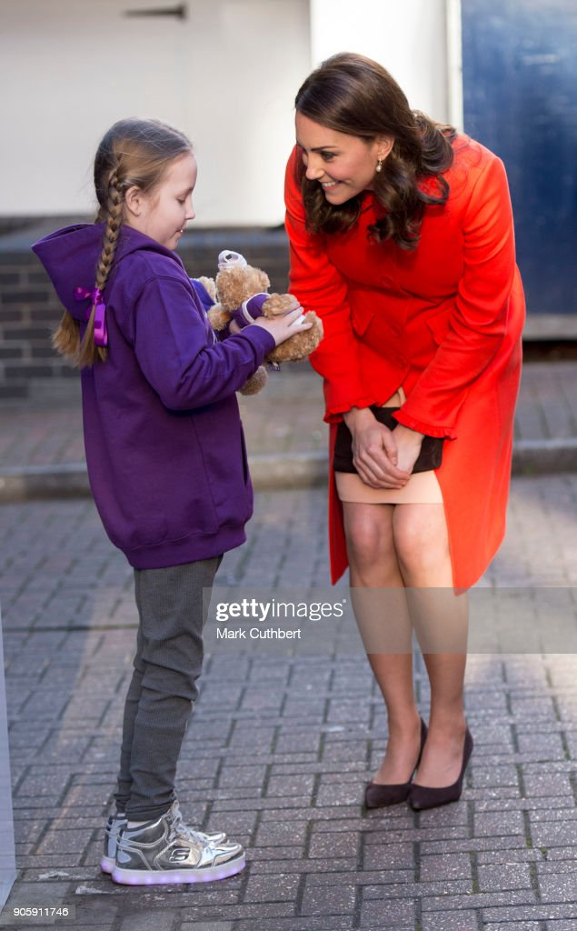 Catherine, Duchess of Cambridge visits Great Ormond Street Hospital on January 17, 2018 in London, England.