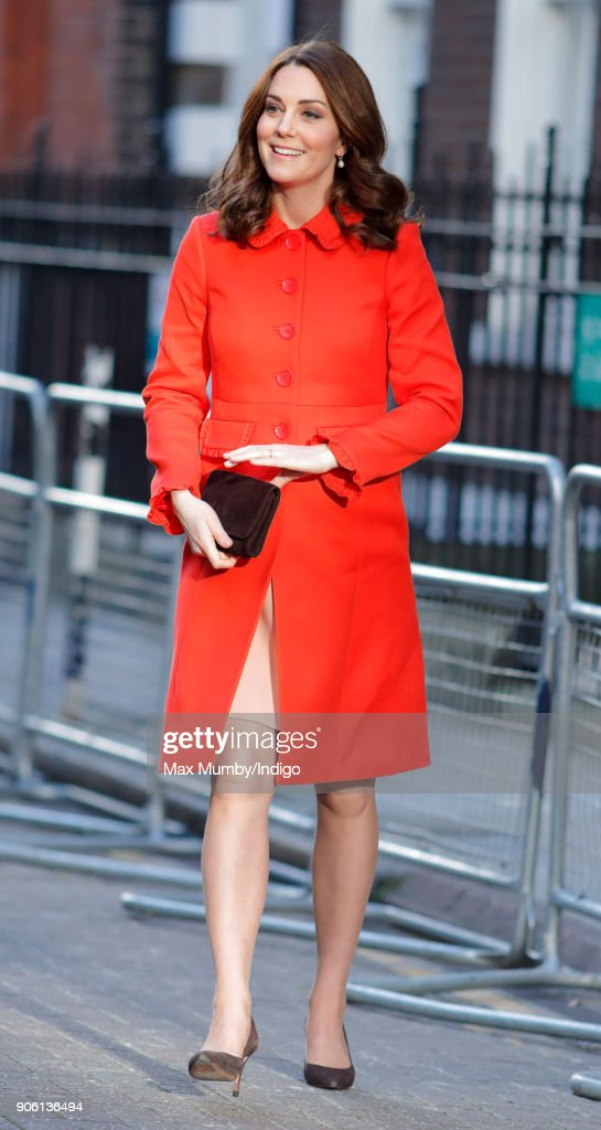 The Duchess Of Cambridge Visits Great Ormond Street Hospital : News Photo