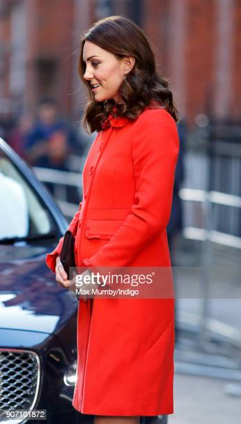 Catherine Duchess of Cambridge visits Great Ormond Street Hospital on January 17 2018 in London England