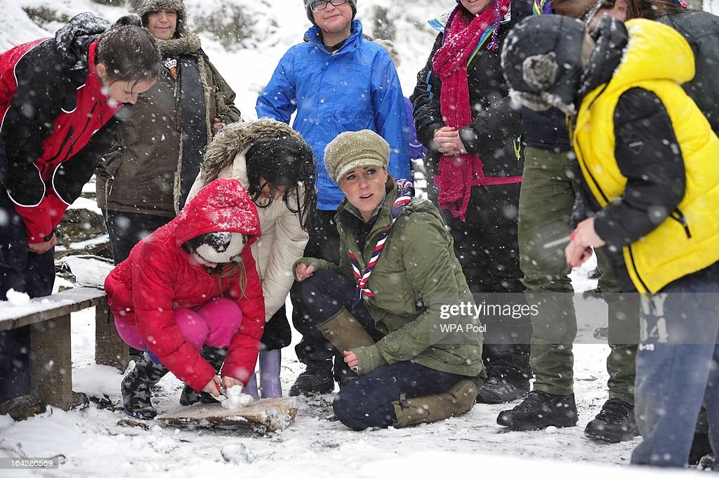The Duchess Of Cambridge Visits Great Tower Scout Camp : News Photo