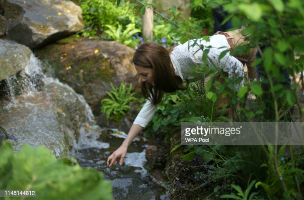 Catherine Duchess of Cambridge visits her garden at the RHS Chelsea Flower Show at the Royal Hospital Chelsea on May 20 3019 in London United Kingdom