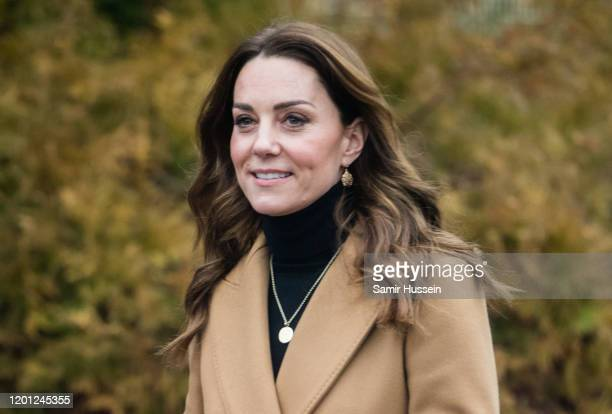 Catherine Duchess of Cambridge visits HMP Send on January 22 2020 in Woking England The visit is part of HRH's 24hour tour of the country to launch...