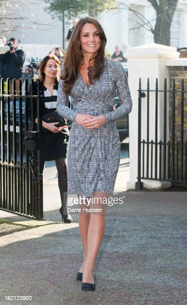 Catherine Duchess of Cambridge visits Hope House on February 19 2013 in London England