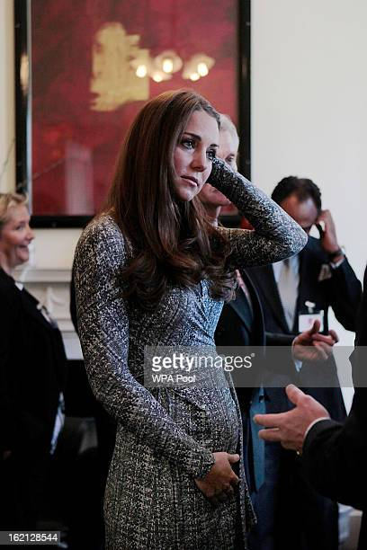 Catherine Duchess of Cambridge visits Hope House residential centre run by Action on Addiction for recovering addicts on February 19 2013 in London...