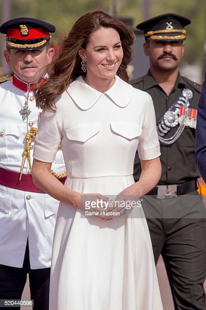 Catherine Duchess of Cambridge visits India Gate Memorial on April 11 2016 in New Delhi India