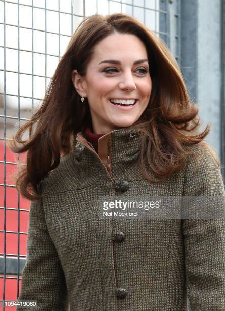 Catherine Duchess of Cambridge visits Islington Community Garden on January 15 2019 in London United Kingdom