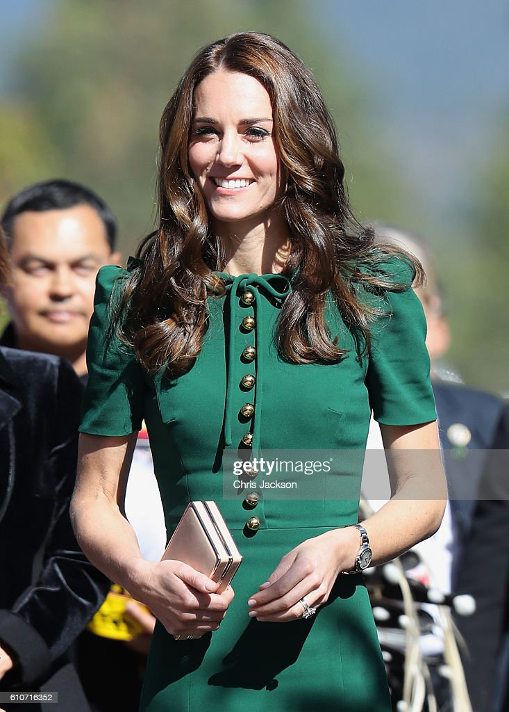Catherine Duchess of Cambridge visits Kelowna University during the Royal Tour of Canada on September 27, 2016 in Kelowna, Canada. Prince William, Duke of Cambridge, Catherine, Duchess of Cambridge, Prince George and Princess Charlotte are visiting Canada as part of an eight day visit to the country taking in areas such as Bella Bella, Whitehorse and Kelowna.