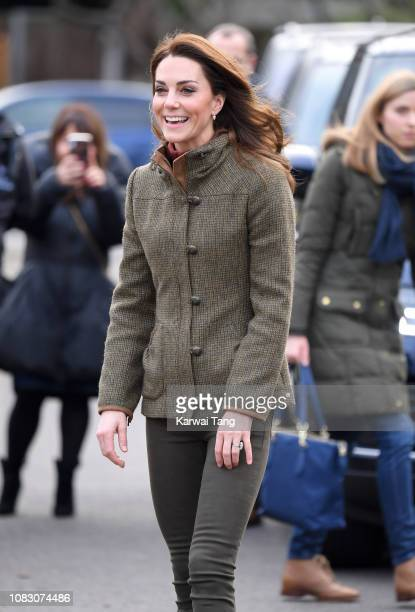 Catherine Duchess of Cambridge visits King HenryÕs Walk Garden on January 15 2019 in London United Kingdom