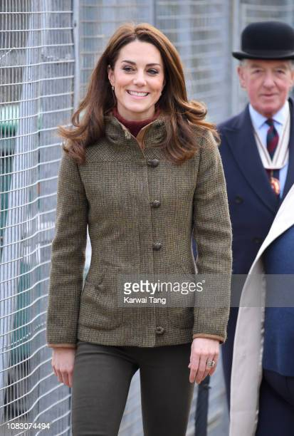 Catherine Duchess of Cambridge visits King HenryÕs Walk Garden on January 15 2019 in London United Kingdom