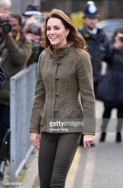 Catherine Duchess of Cambridge visits King Henry's Walk Garden on January 15 2019 in London United Kingdom