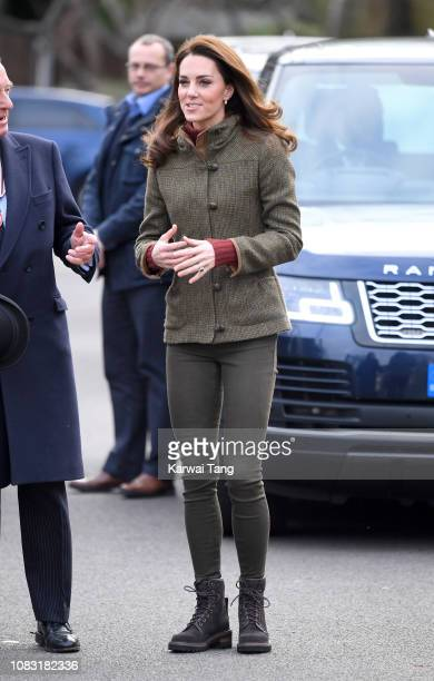 Catherine Duchess of Cambridge visits King Henry's Walk Garden on January 15 2019 in London United Kingdom