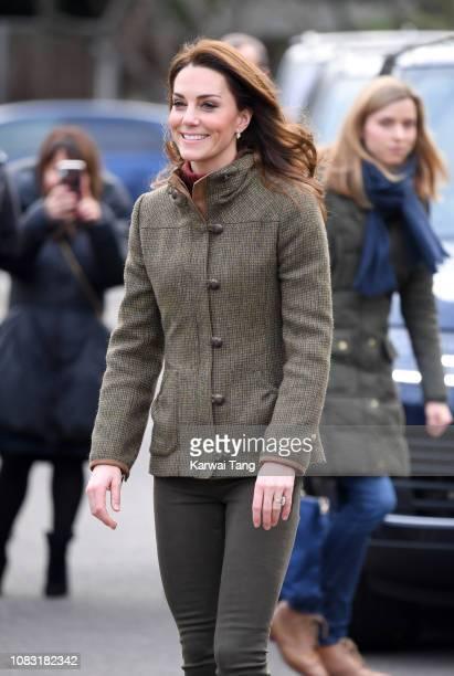 Catherine, Duchess of Cambridge visits King Henry's Walk Garden on January 15, 2019 in London, United Kingdom.