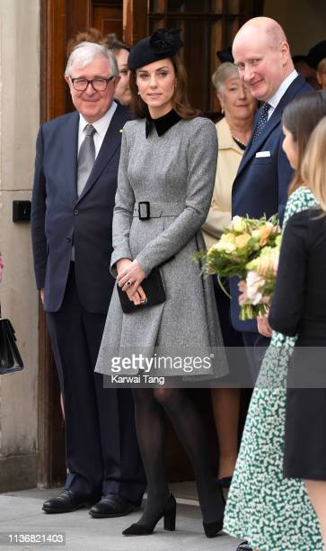 Catherine, Duchess of Cambridge visits King's College London accompanied by Queen Elizabeth II to officially open Bush House, the latest education...