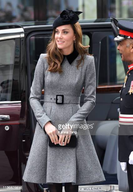 Catherine Duchess of Cambridge visits King's College London accompanied by Queen Elizabeth II to officially open Bush House the latest education and...