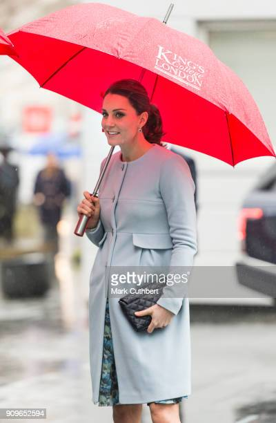 Catherine, Duchess of Cambridge visits Kings College on January 24, 2018 in London, England.