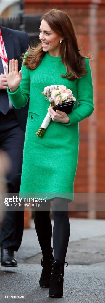 The Duchess Of Cambridge Visits Schools In Support Of Children's Mental Health : News Photo