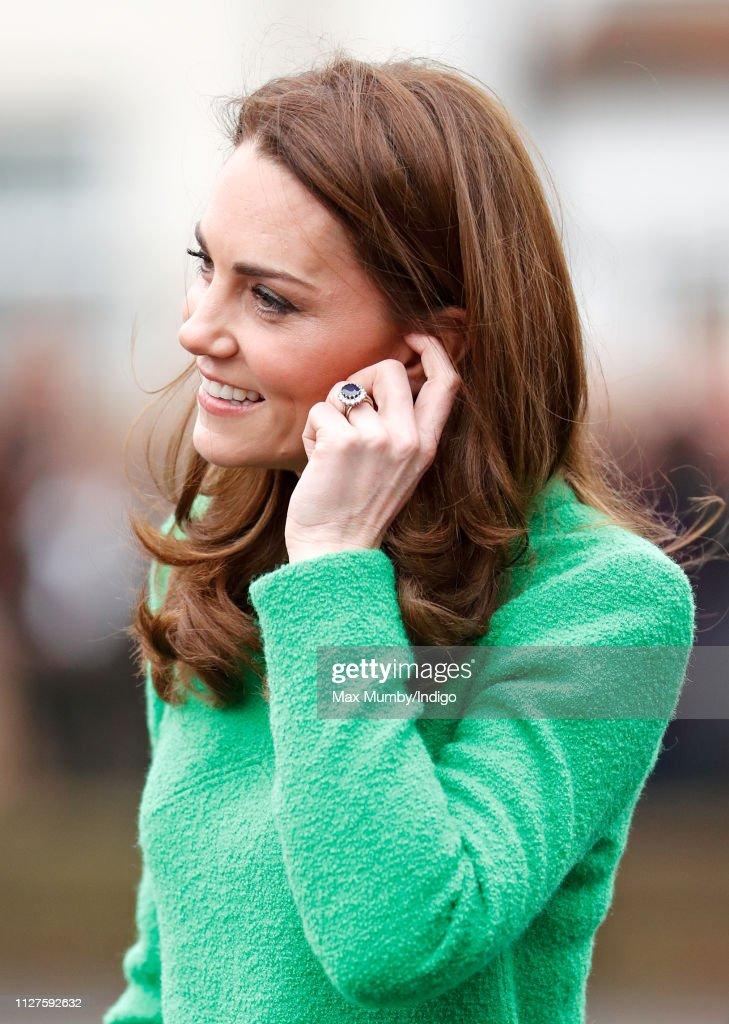 The Duchess Of Cambridge Visits Schools In Support Of Children's Mental Health : Foto di attualità