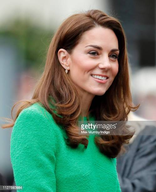 Catherine Duchess of Cambridge visits Lavender Primary School in support of Place2Be's Children's Mental Health Week 2019 on February 5 2019 in...
