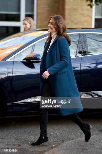 Catherine Duchess of Cambridge visits LEYF Stockwell Gardens Nursery and PreSchool on January 29 2020 in London England