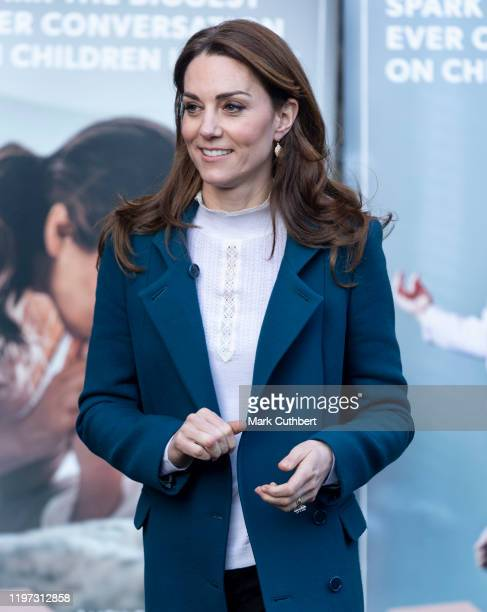 Catherine Duchess of Cambridge visits LEYF Stockwell Gardens Nursery PreSchool on January 29 2020 in London England