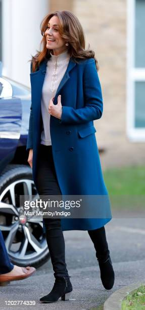 Catherine Duchess of Cambridge visits LEYF Stockwell Gardens Nursery PreSchool on January 29 2020 in London England The visit follows the launch last...