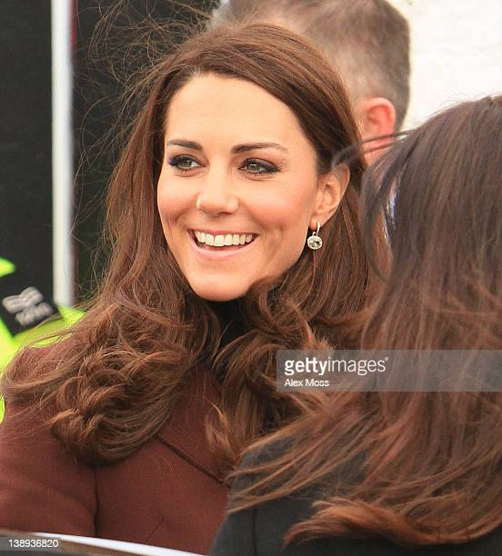 Catherine Duchess Of Cambridge visits Liverpool charity The Brink an alcohol free bar on February 14 2012 in Liverpool England
