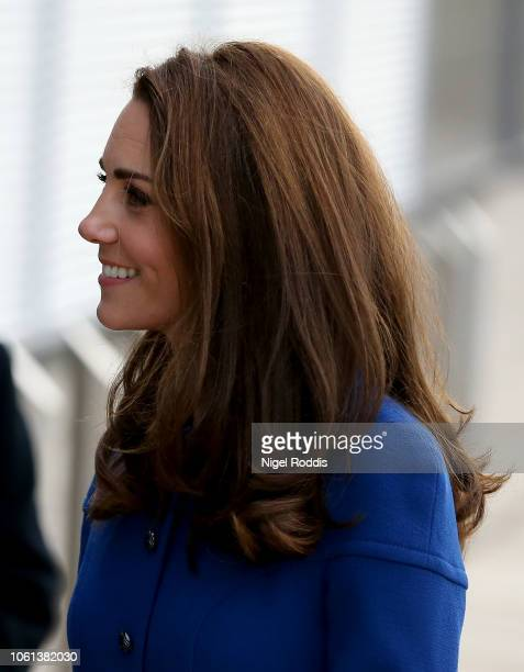 Catherine Duchess Of Cambridge visits McLaren Automotive Composites Technology Centre on November 14 2018 in Rotherham England