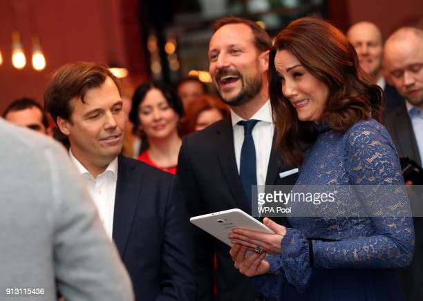 Catherine Duchess of Cambridge visits 'MESH' a workspace for startup tech companies on day 3 of their visit to Sweden and Norway on February 1 2018...