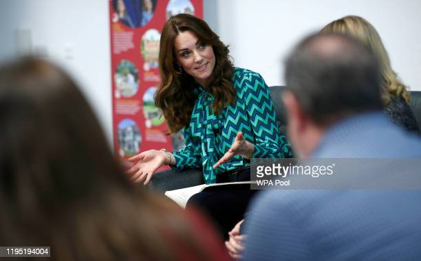 Catherine Duchess of Cambridge visits MiniBrum an interactive childsized world at Thinktank at Birmingham Science Museum on January 22 2020 in...
