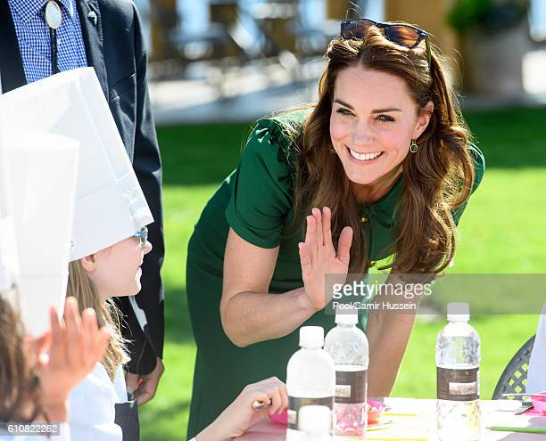 Catherine, Duchess of Cambridge visits Mission Hill Winery on September 27, 2016 in Kelowna, Canada.
