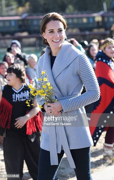Catherine Duchess of Cambridge visits Montana mountain Carcross on September 28 2016 in Whitehorse Canada