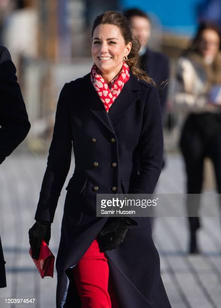 Catherine Duchess of Cambridge visits Mumbles Pier on February 04 2020 in Swansea Wales